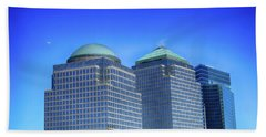 Buildings 2,3,4 In New York's Financial District Beach Towel
