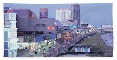 Buildings In A City, Atlantic City, New Beach Towel