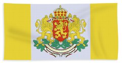 Beach Towel featuring the drawing Bulgaria Coat Of Arms by Movie Poster Prints