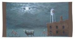 Bull Moon Ride Beach Towel