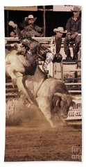 Bull Riding 1 Beach Sheet by Natalie Ortiz
