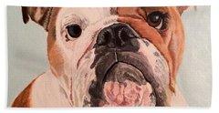Bulldog Beauty Beach Towel
