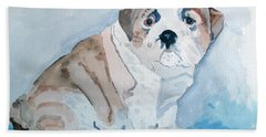 Bulldog Puppy Beach Towel