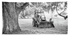 Bulldozer Beach Towel by Scott Hansen