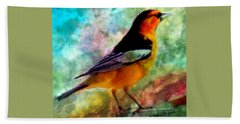 Bullock's Oriole Mountain Birds Beach Towel