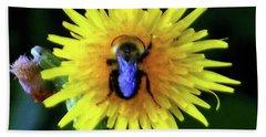 Bullseye Bumblebee Dandelion Beach Sheet