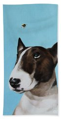 Bully And Bee Beach Towel by Jindra Noewi