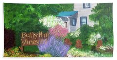 Bully Hill Vineyard Beach Sheet by Cynthia Morgan
