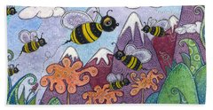 Bumble Bee Buzz Beach Sheet by Tanielle Childers