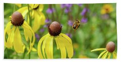 Bumble Bee Heaven Beach Towel by Janice Adomeit