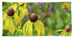 Bumble Bee Heaven Beach Sheet