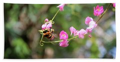 Beach Towel featuring the photograph Bumble Bee1 by Megan Dirsa-DuBois
