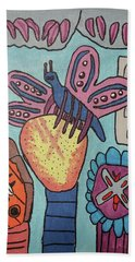 Beach Towel featuring the painting Bumblefly by Brandon Drucker