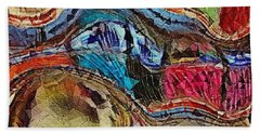 Bumps In The Road Beach Towel by Kathie Chicoine