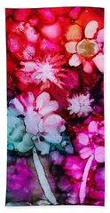 Bunch Of Flowers Beach Sheet by Karin Eisermann