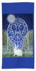 Bunny, Gate And Moon Beach Towel