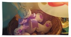 Bunny In A Basket Beach Towel