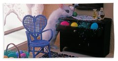 Bunny In Small Room Beach Towel by Garry Gay