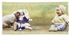 Bunny Kisses Doll Beach Towel