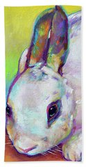 Beach Towel featuring the painting Bunny by Robert Phelps