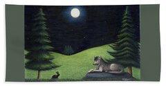 Bunny Visits Wolf Beach Sheet
