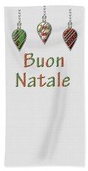 Buon Natale Italian Merry Christmas Beach Towel