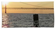 Buoy And Bridge Beach Towel