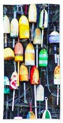 Buoy Art Beach Sheet by Bill Holkham