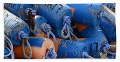 Buoy Colors Beach Sheet by Fraida Gutovich