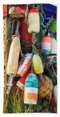 Buoys At The Crab Shack Beach Sheet