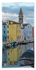 Burano Italian Reflection Beach Towel