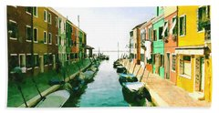 Burano Venice Beach Towel