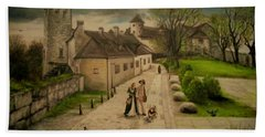 Burghausen Fortress Beach Towel