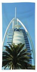 Burj Al Arab Beach Towel by Hanza Turgul