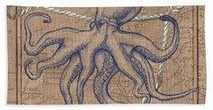 Burlap Octopus Beach Towel