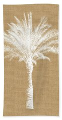 Burlap Palm Tree- Art By Linda Woods Beach Towel