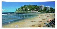 Burleigh Beach 100910 Beach Towel