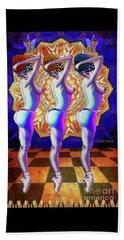 Burlesque Dancers Act One Beach Sheet by Joseph J Stevens