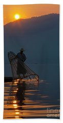 Burma_d143 Beach Towel