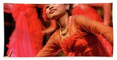 Burmese Dance 1 Beach Towel by Werner Padarin