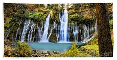 Burney Falls Beach Towel by Jason Abando