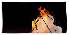 Beach Towel featuring the photograph Burning Love by Yvette Van Teeffelen