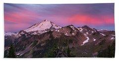 Burning Sunrise Skies Above Mount Baker Beach Sheet