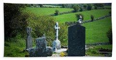 Burren Crosses County Clare Ireland Beach Towel