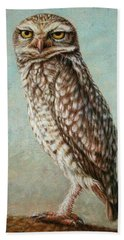 Burrowing Owl Beach Towel by James W Johnson