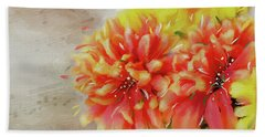 Beach Towel featuring the photograph Burst Of Autumn by Mary Timman