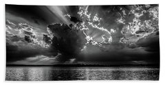 Burst Of Clouds In B And W Beach Towel by Doug Long