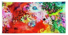 Burst Of Spring Flowers Beach Sheet
