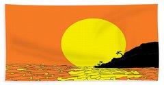 Burst Of Yellow Beach Sheet by Linda Velasquez