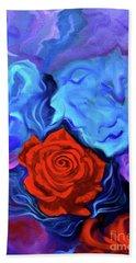 Bursting Rose Beach Towel by Jenny Lee